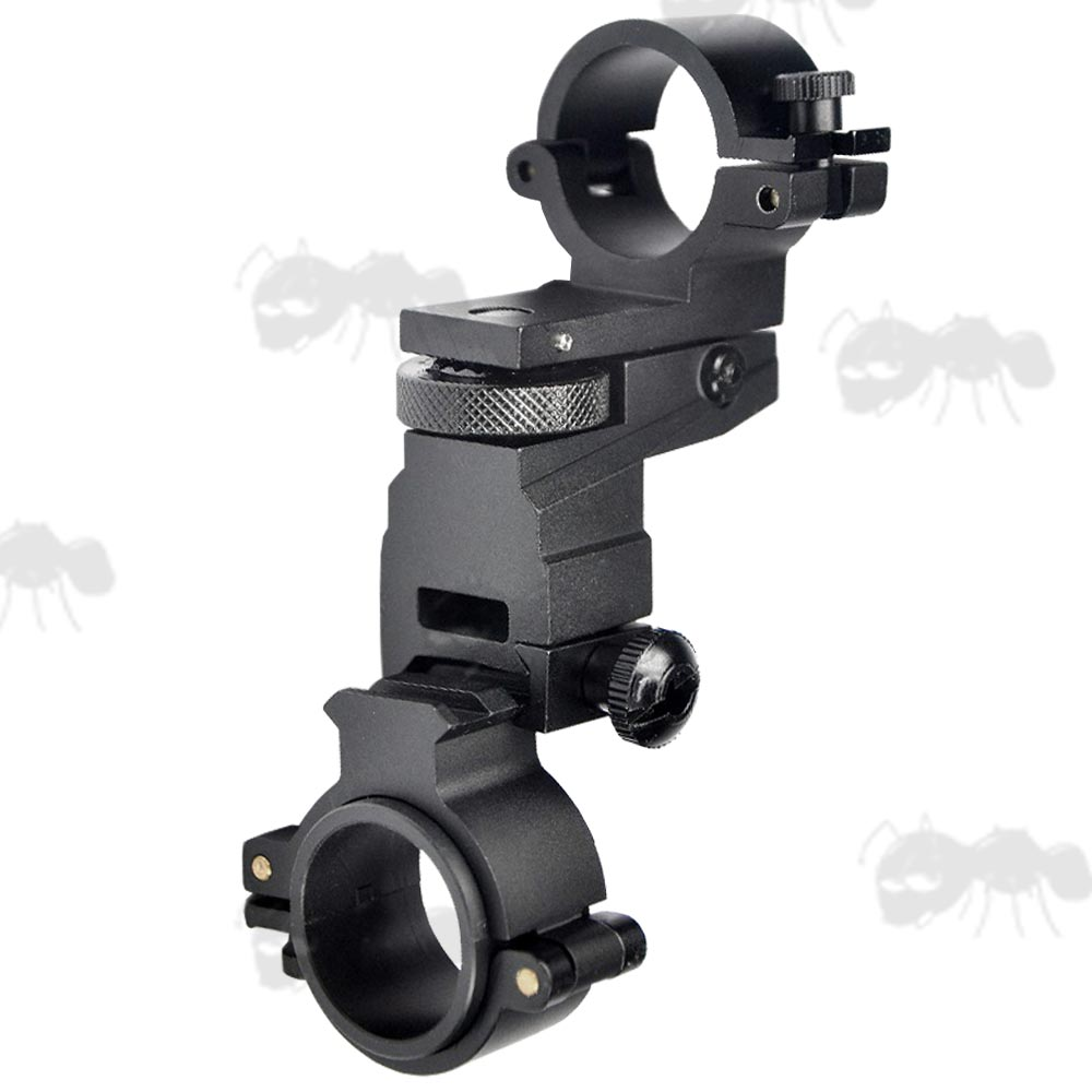 Quick-Release Weaver Rail and Scope Tube Laser Torch Mount