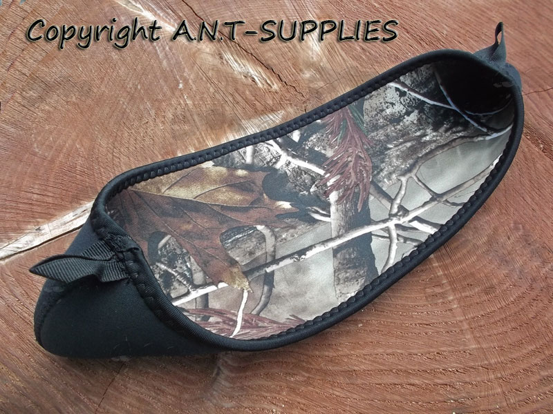 Inside Out View of Camouflage Neoprene Rifle Scope Cover