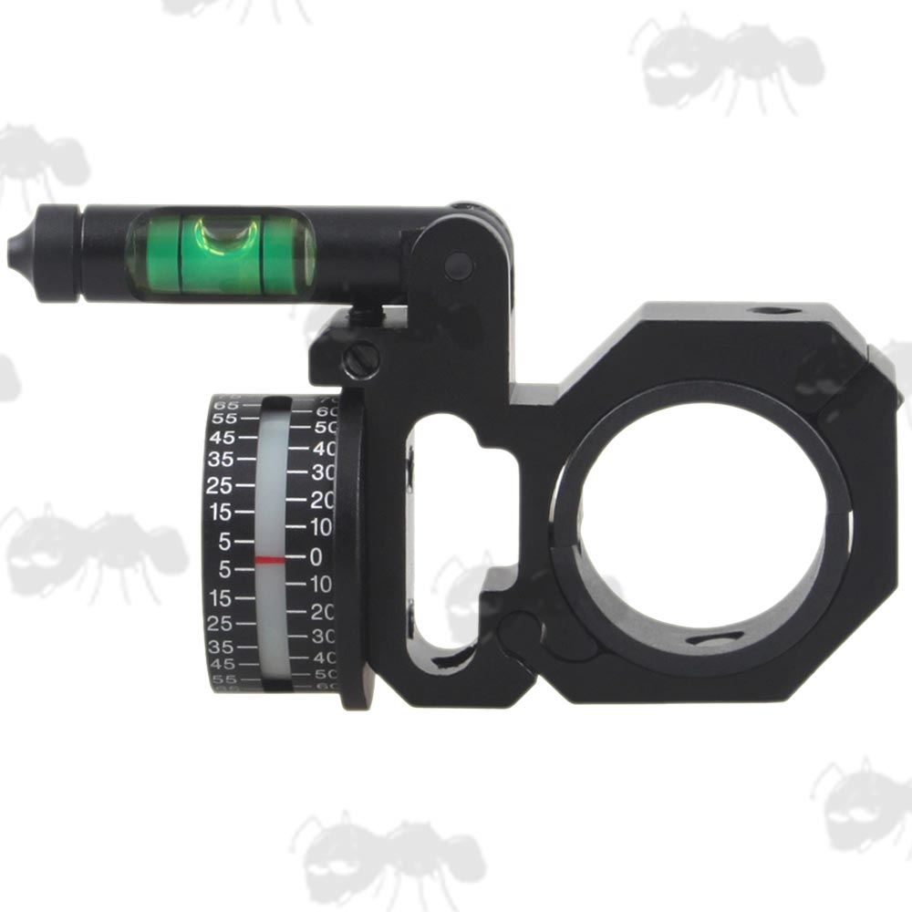 Left-Handed Rifle Scope Tube Fitting Angle Indicator with Swing Out Spirit Level