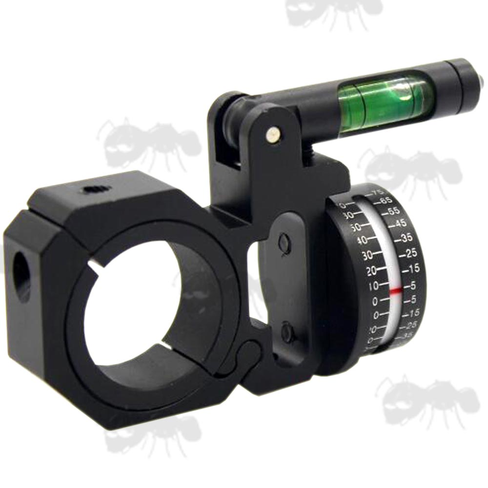 Right-Handed Rifle Scope Tube Fitting Angle Indicator with Swing Out Spirit Level