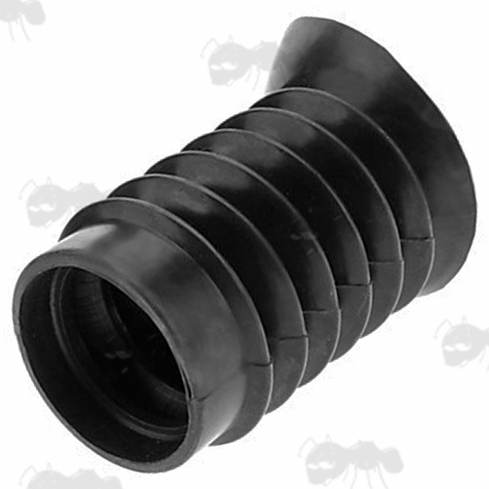 Black Recoil Rubber Concertina Pigs Ear Scope Eyepiece with 38mm Fitting