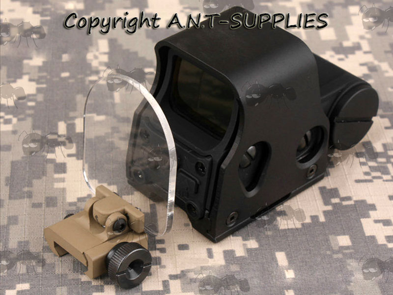 Dark Earth Rail Mount with Clear Screen Sight Lens Protector Shield with EoTech Sight