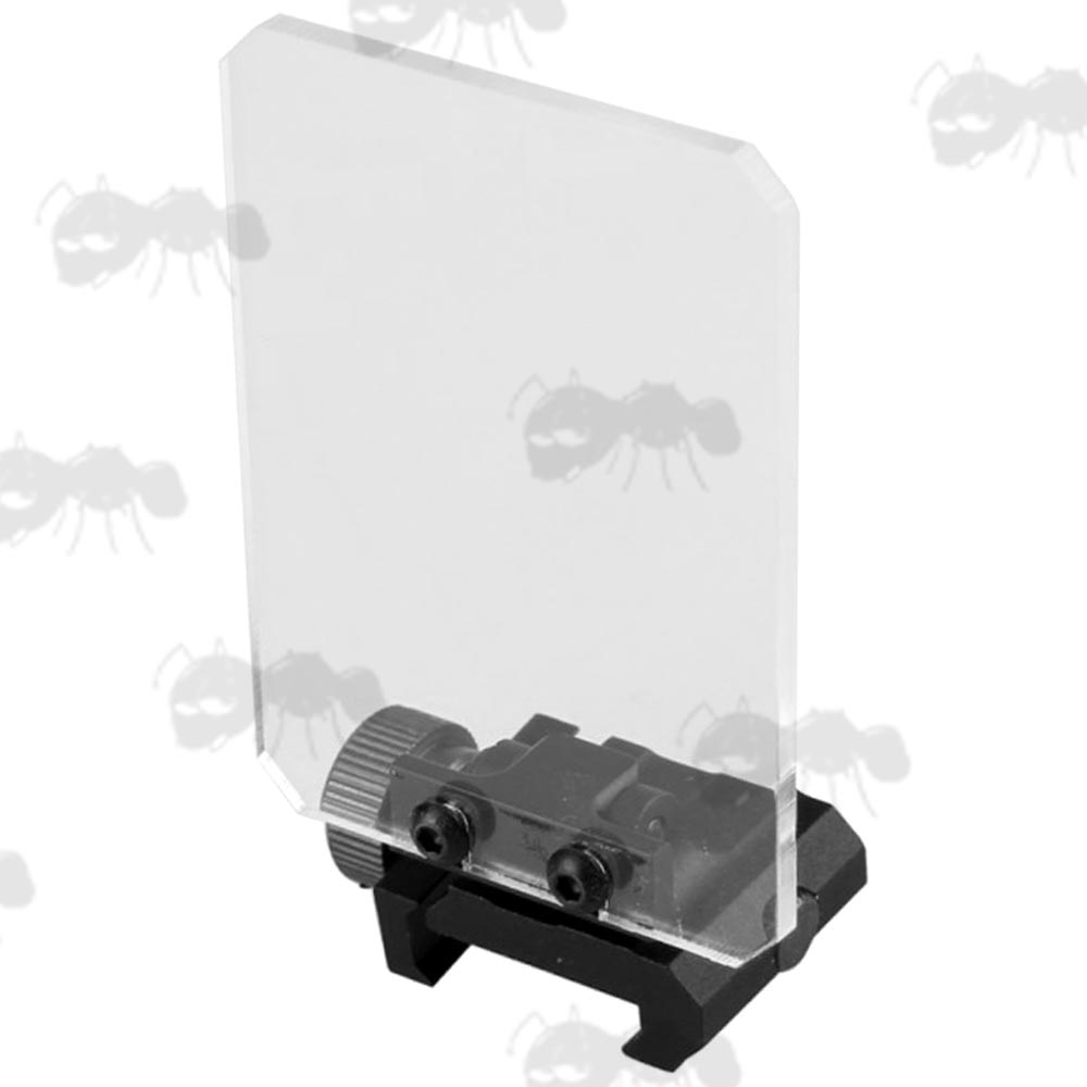Rail Mount with Rectangular Clear Screen Sight Lens Protector Shield