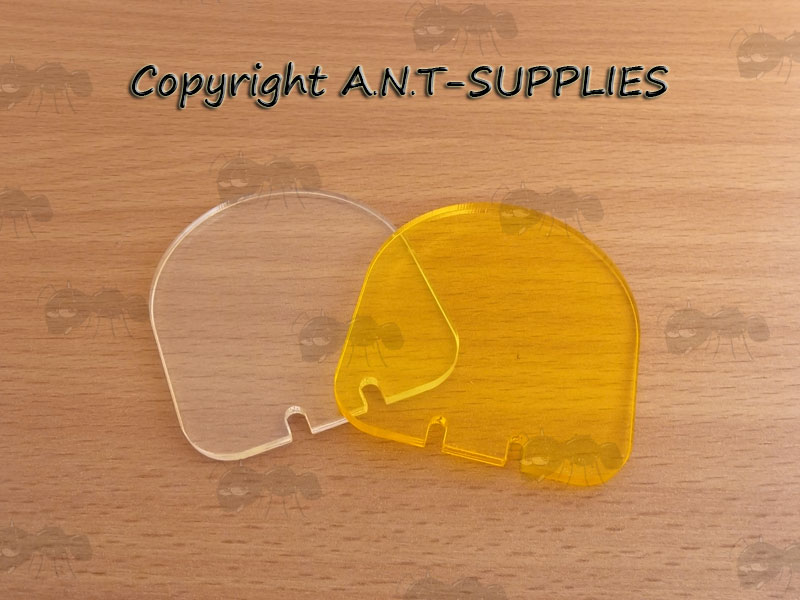 Spare Clear and Amber Airsoft Sight Flip-up Lens Shields