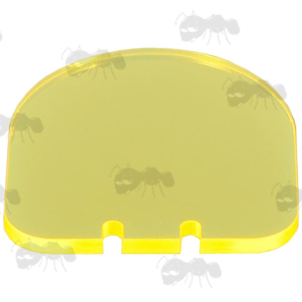 Spare Yellow Airsoft Sight Flip-up Lens Shield