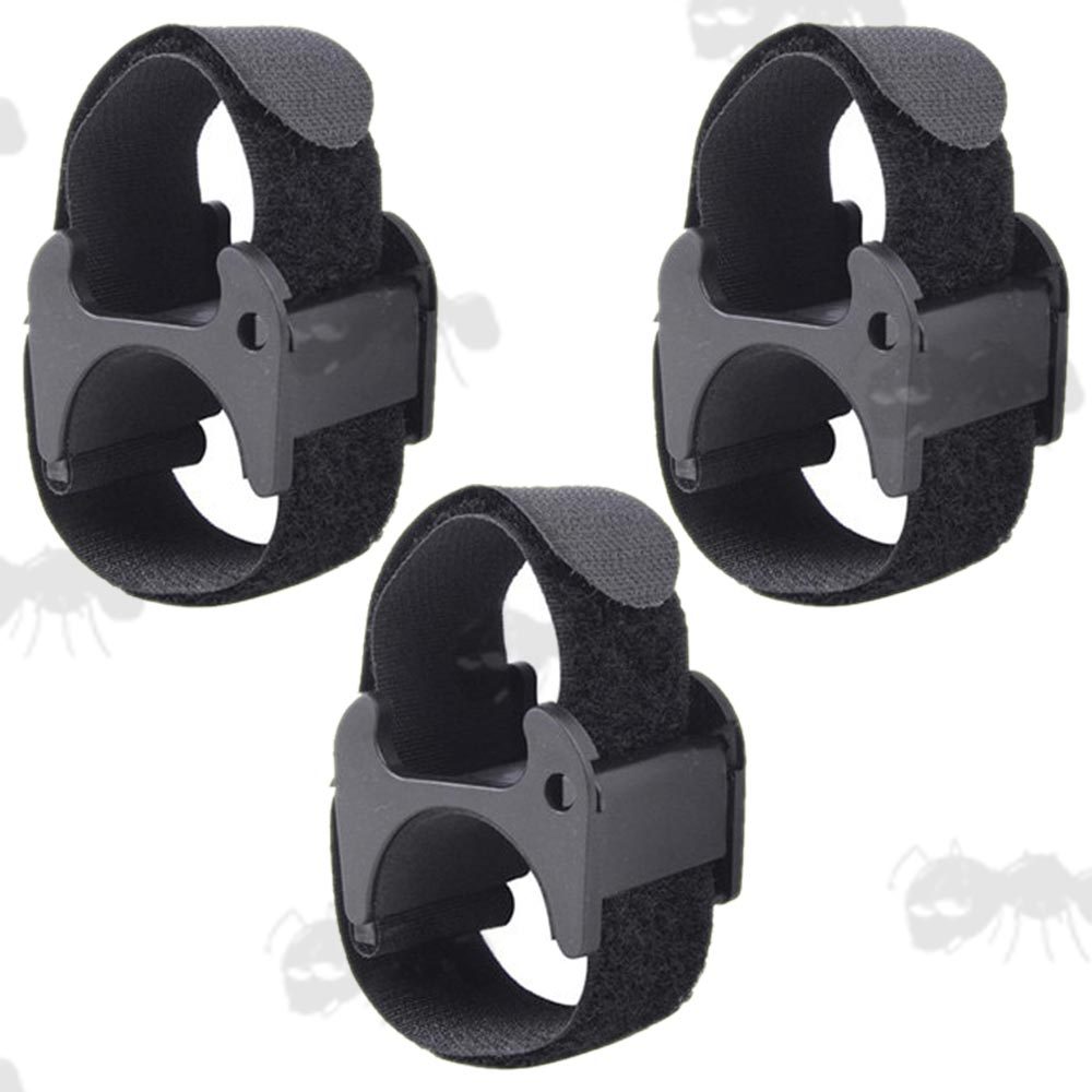 Set of Three Universal Inline Plastic Block and Velcro Strap Mount