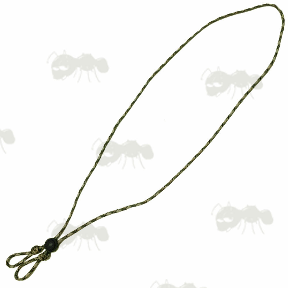 Desert Scrub Camouflage Paracord Game Call Lanyard with Two Drops