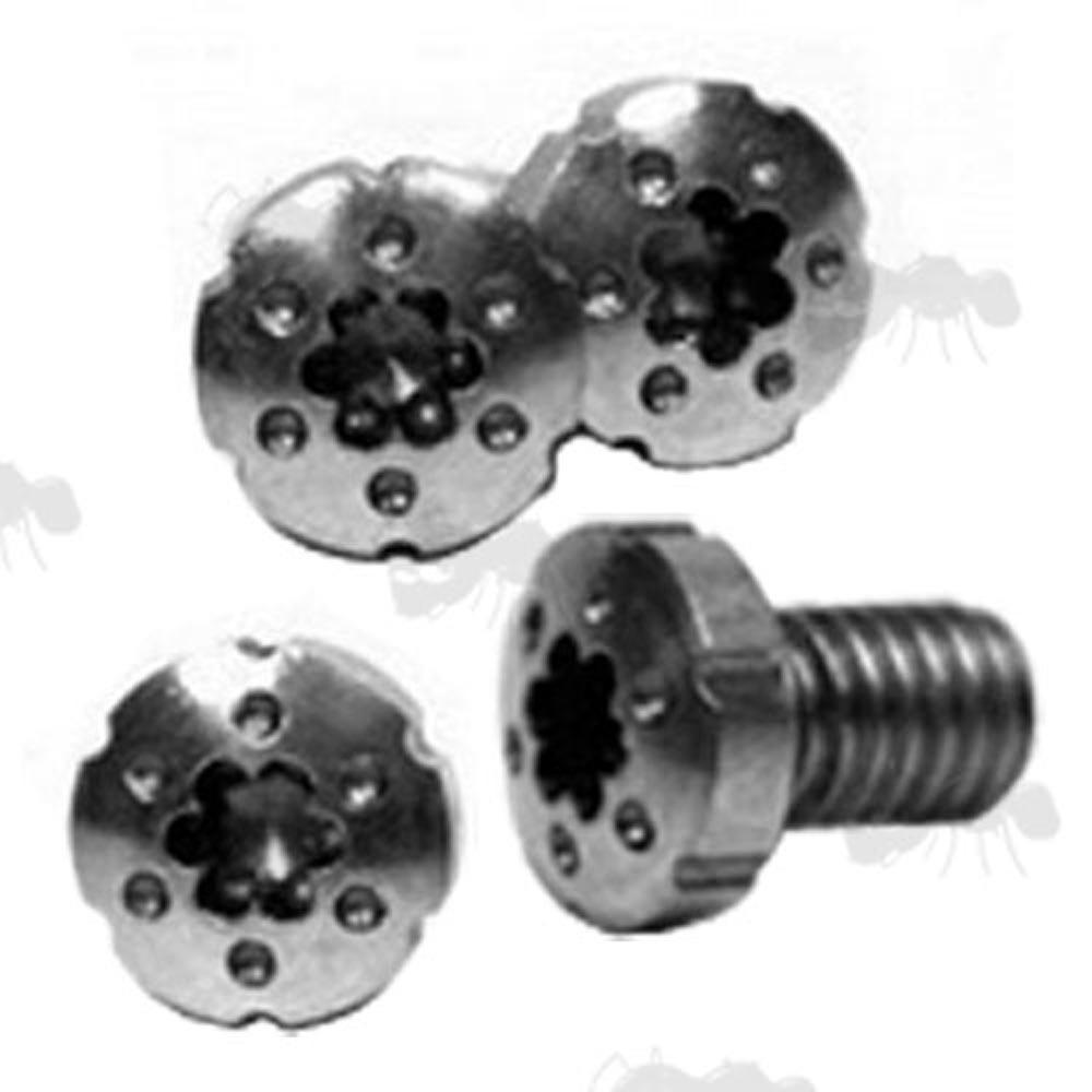set of four decorative 1911 pistol grip panel screws - Decorative Screws