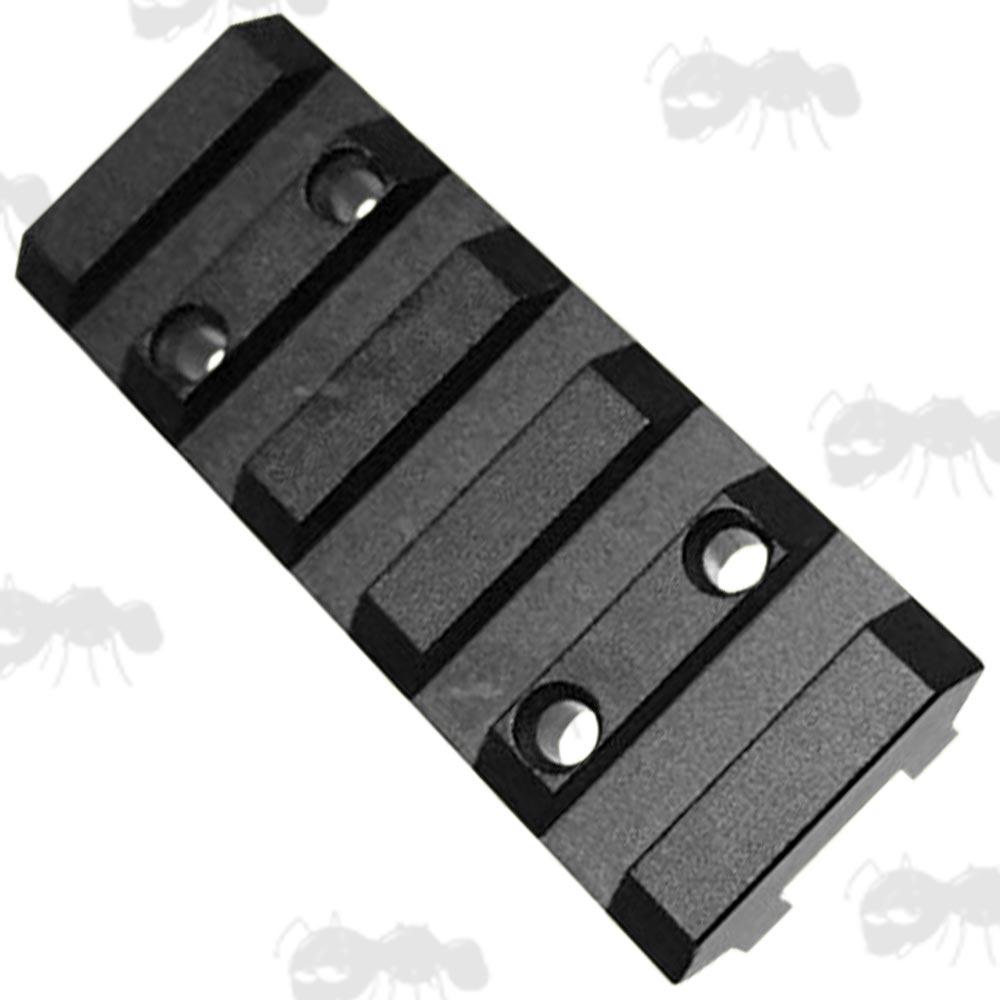 Ventilated shotgun rib to picatinny rail adapter