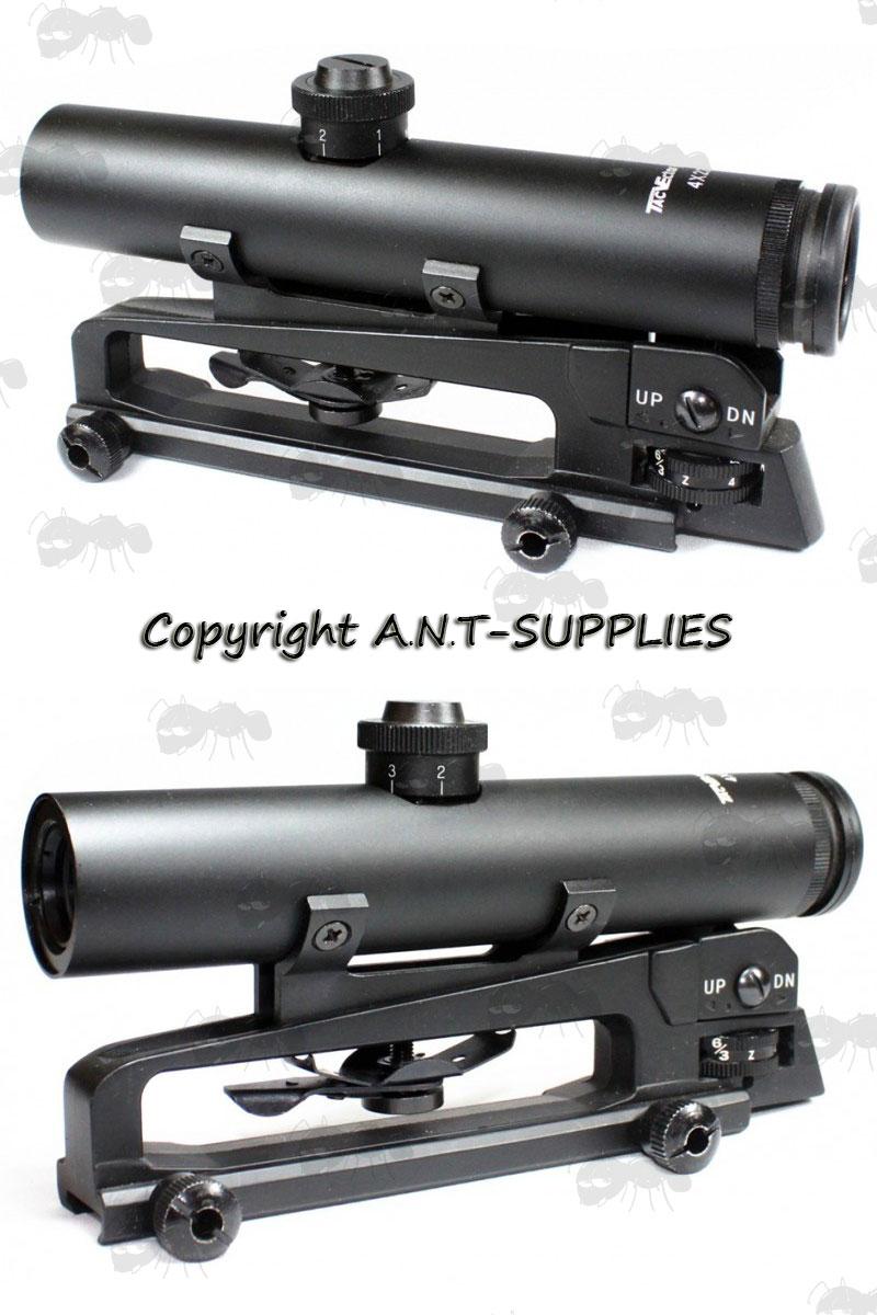 Vector optics streak 4x20 ar 15 carry handle scope m4 m16 sight