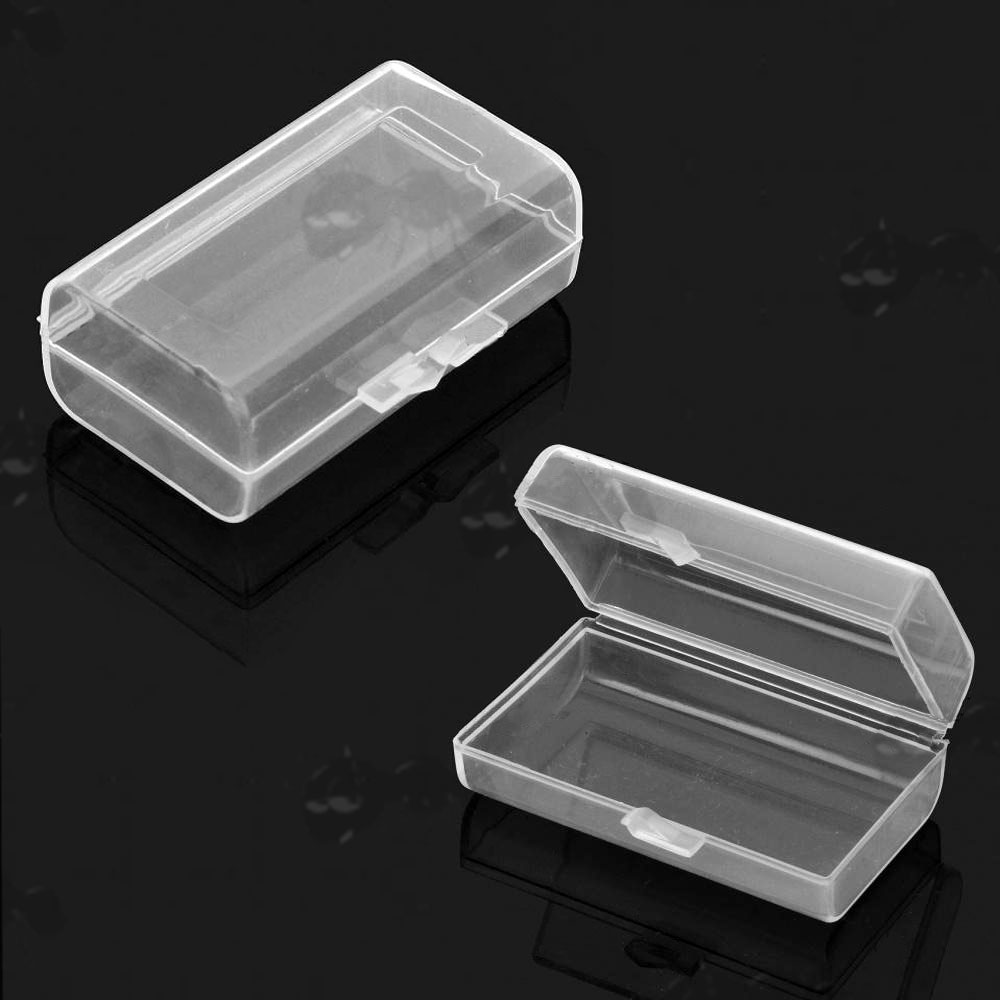 Two Clear Transparent 9v Battery Storage Cases & Battery Storage Cases - CR123a 16340 18650 9v Batteries Case